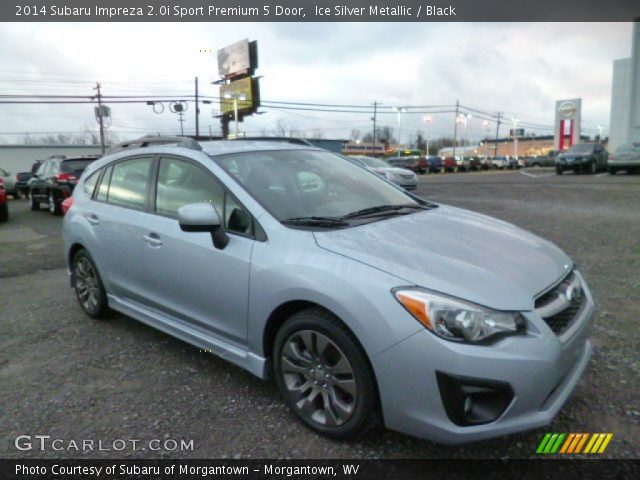 ice silver metallic 2014 subaru impreza sport premium 5 door black interior gtcarlot. Black Bedroom Furniture Sets. Home Design Ideas