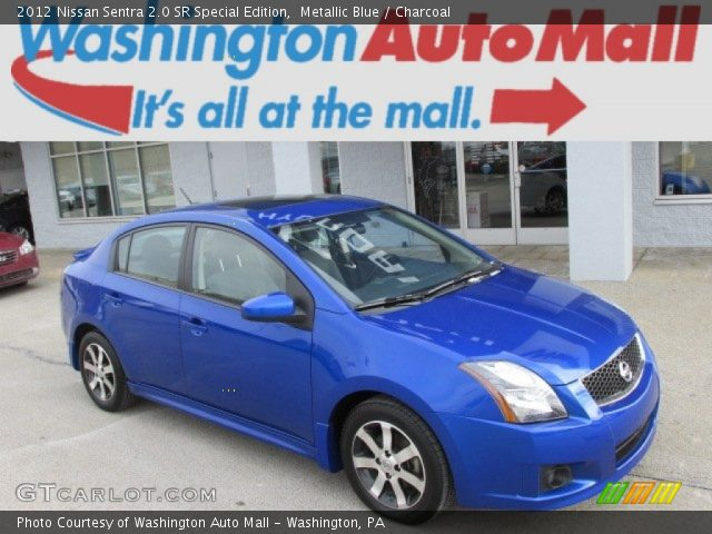 metallic blue 2012 nissan sentra 2 0 sr special edition charcoal interior. Black Bedroom Furniture Sets. Home Design Ideas