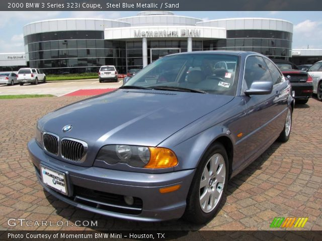 steel blue metallic 2000 bmw 3 series 323i coupe sand interior vehicle. Black Bedroom Furniture Sets. Home Design Ideas
