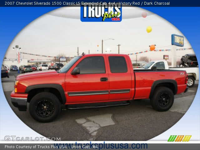 2007 Chevrolet Silverado 1500 Classic LS Extended Cab 4x4 in Victory Red