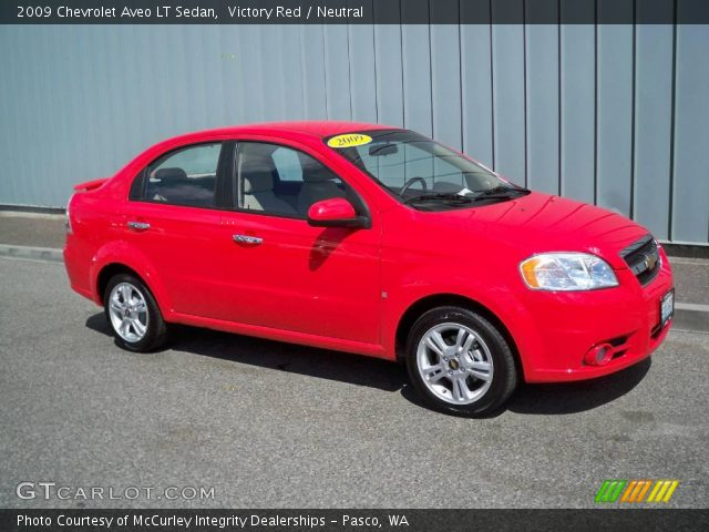 Victory Red  2009 Chevrolet Aveo LT Sedan  Neutral Interior