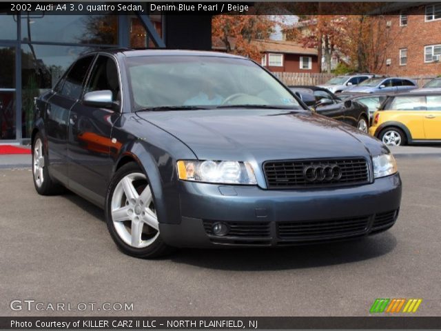 denim blue pearl 2002 audi a4 3 0 quattro sedan beige. Black Bedroom Furniture Sets. Home Design Ideas