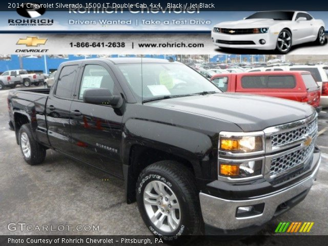 black 2014 chevrolet silverado 1500 lt double cab 4x4 jet black interior. Black Bedroom Furniture Sets. Home Design Ideas