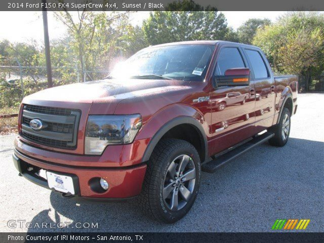 sunset 2014 ford f150 fx4 supercrew 4x4 black interior vehicle archive. Black Bedroom Furniture Sets. Home Design Ideas
