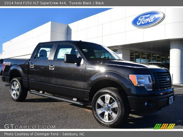 tuxedo black 2014 ford f150 xlt supercrew 4x4 black interior vehicle. Black Bedroom Furniture Sets. Home Design Ideas