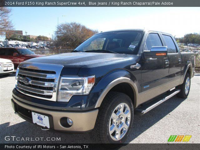 blue jeans 2014 ford f150 king ranch supercrew 4x4 king ranch chaparral pale adobe interior. Black Bedroom Furniture Sets. Home Design Ideas