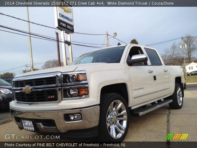White Diamond Tricoat 2014 Chevrolet Silverado 1500 Ltz Z71 Crew