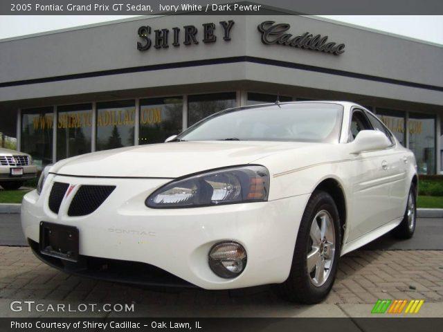 ivory white 2005 pontiac grand prix gt sedan dark pewter interior vehicle. Black Bedroom Furniture Sets. Home Design Ideas