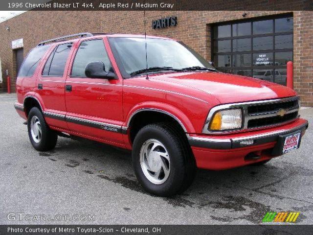 apple red 1996 chevrolet blazer lt 4x4 medium gray interior gtcarlot com vehicle archive 8837486 gtcarlot com