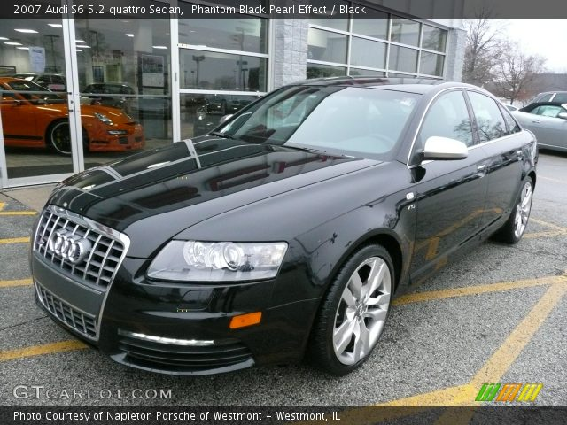 phantom black pearl effect 2007 audi s6 5 2 quattro sedan black interior. Black Bedroom Furniture Sets. Home Design Ideas