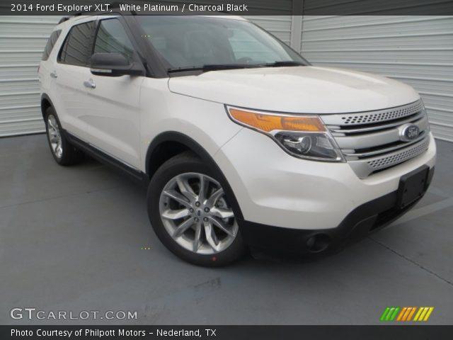 White Platinum 2014 Ford Explorer Xlt Charcoal Black
