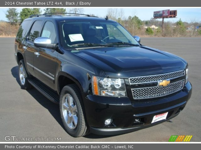 black 2014 chevrolet tahoe ltz 4x4 ebony interior vehicle archive 89265411. Black Bedroom Furniture Sets. Home Design Ideas