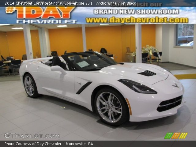 Arctic White 2014 Chevrolet Corvette Stingray Convertible Z51 with Jet    White 2014 Corvette Convertible