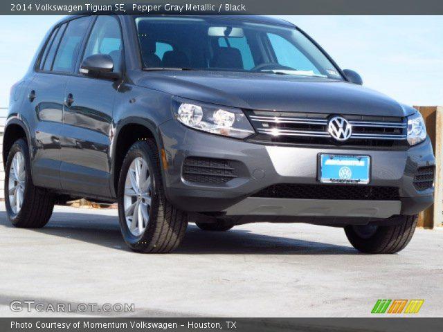 Pepper Gray Metallic - 2014 Volkswagen Tiguan SE - Black ...
