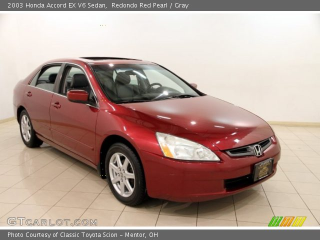 2003 Honda Accord EX V6 Sedan in Redondo Red Pearl