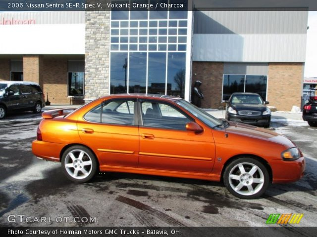 volcanic orange 2006 nissan sentra se r spec v charcoal interior vehicle. Black Bedroom Furniture Sets. Home Design Ideas