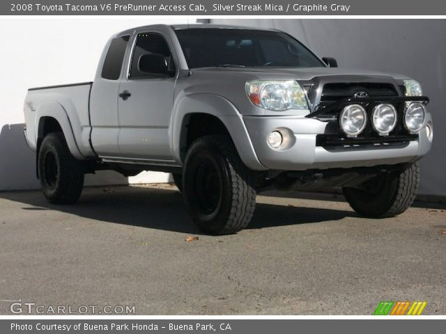 silver streak mica 2008 toyota tacoma v6 prerunner access cab graphite gray interior. Black Bedroom Furniture Sets. Home Design Ideas