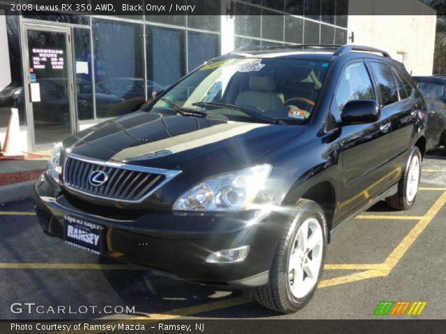 black onyx 2008 lexus rx 350 awd ivory interior vehicle archive 89484032. Black Bedroom Furniture Sets. Home Design Ideas