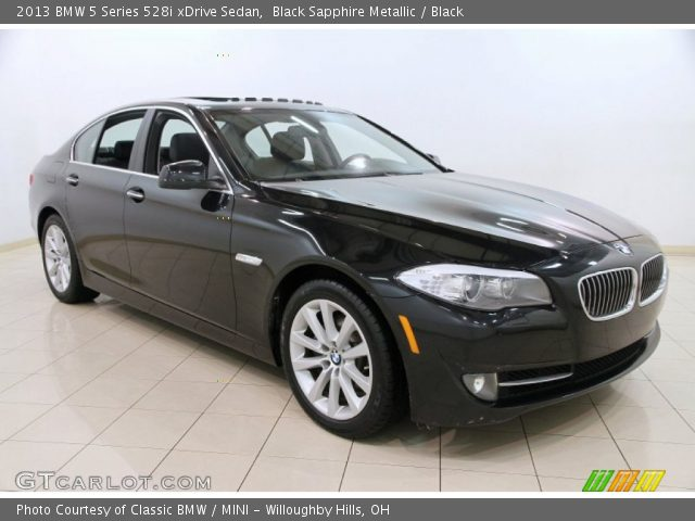 black sapphire metallic 2013 bmw 5 series 528i xdrive sedan black interior. Black Bedroom Furniture Sets. Home Design Ideas