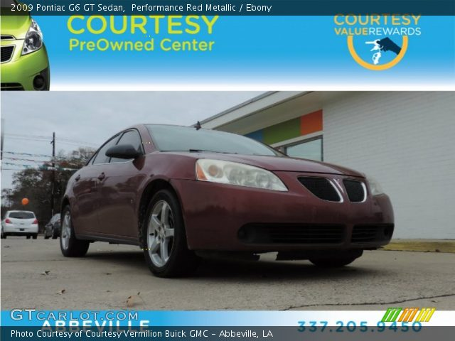 2009 Pontiac G6 GT Sedan in Performance Red Metallic