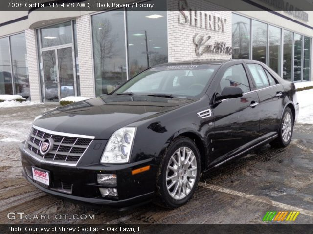 2008 Cadillac STS 4 V8 AWD in Black Raven