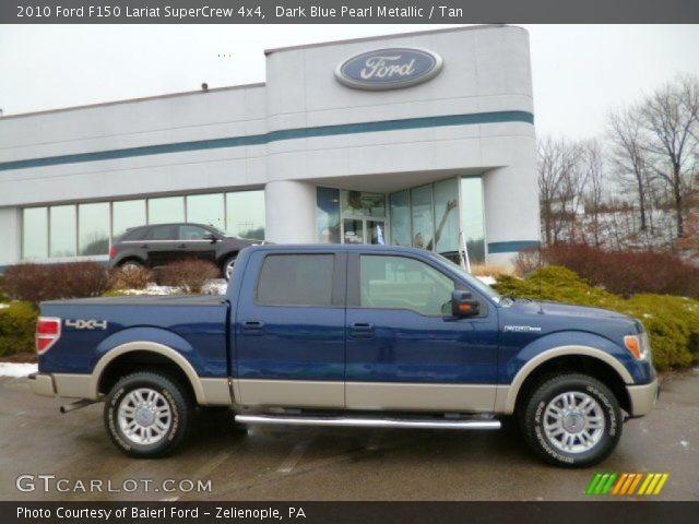 2010 Ford F150 Lariat SuperCrew 4x4 in Dark Blue Pearl Metallic