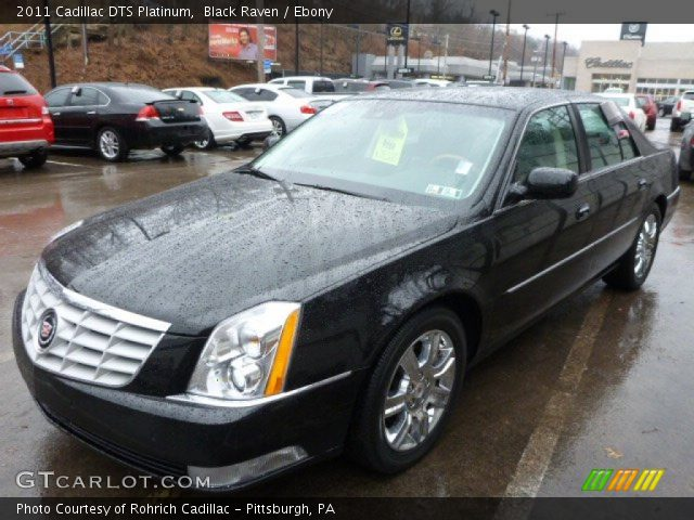 2011 Cadillac DTS Platinum in Black Raven