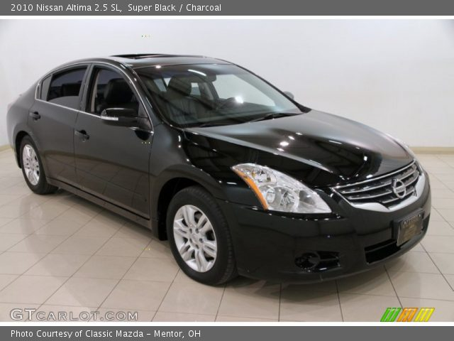 super black 2010 nissan altima 2 5 sl charcoal interior vehicle archive. Black Bedroom Furniture Sets. Home Design Ideas