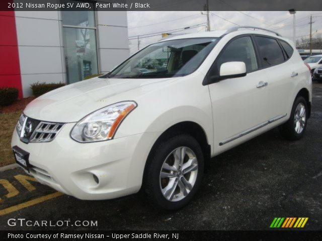 Pearl white 2012 nissan rogue sv awd black interior - 2012 nissan rogue exterior colors ...