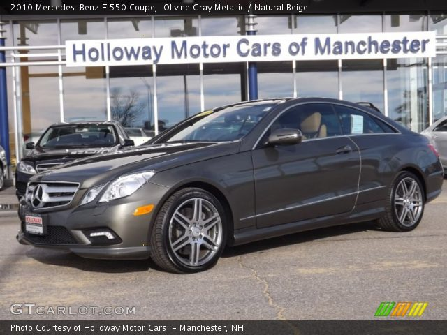 2010 Mercedes-Benz E 550 Coupe in Olivine Gray Metallic