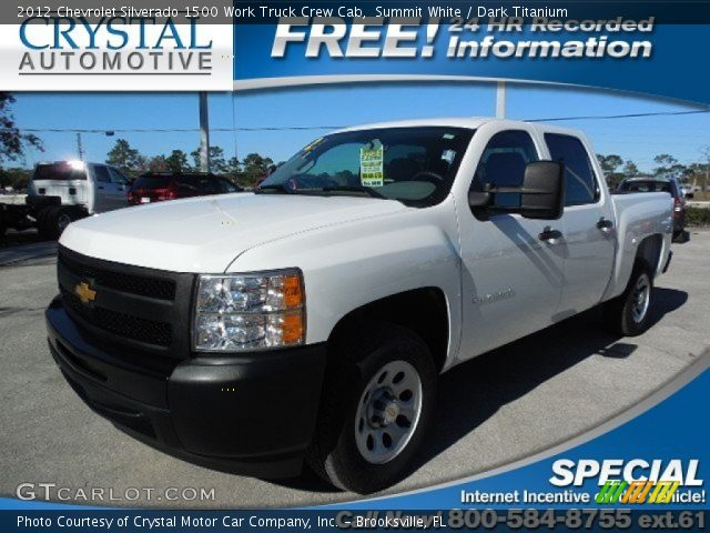 2012 Chevrolet Silverado 1500 Work Truck Crew Cab in Summit White