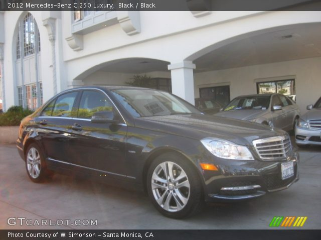 2012 Mercedes-Benz C 250 Luxury in Black