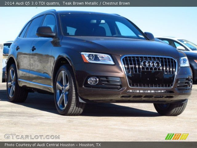 teak brown metallic 2014 audi q5 3 0 tdi quattro chestnut brown interior. Black Bedroom Furniture Sets. Home Design Ideas