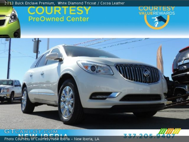 2013 Buick Enclave Premium in White Diamond Tricoat