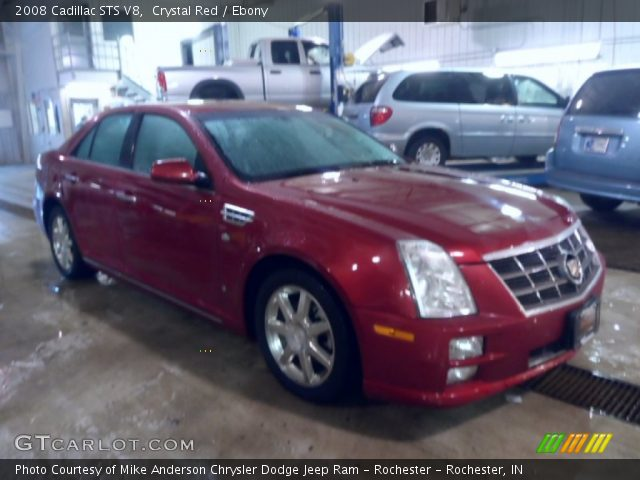 2008 Cadillac STS V8 in Crystal Red
