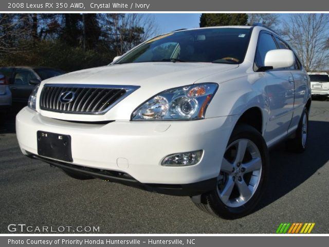 crystal white 2008 lexus rx 350 awd ivory interior vehicle archive 89817354. Black Bedroom Furniture Sets. Home Design Ideas