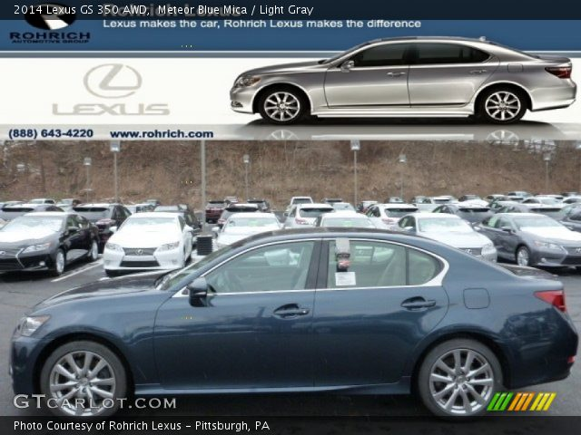 meteor blue mica 2014 lexus gs 350 awd light gray interior vehicle archive. Black Bedroom Furniture Sets. Home Design Ideas