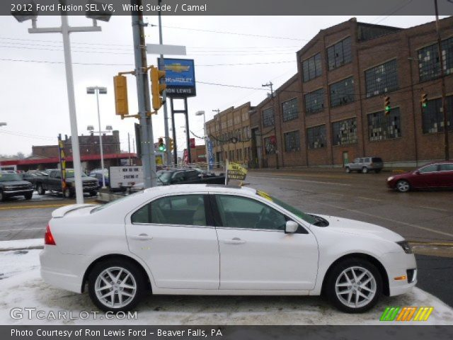 2012 Ford Fusion SEL V6 in White Suede