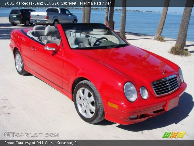 2001 Mercedes-Benz CLK 320 Cabriolet in Magma Red