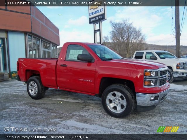 victory red 2014 chevrolet silverado 1500 lt z71 regular cab 4x4 jet black interior. Black Bedroom Furniture Sets. Home Design Ideas