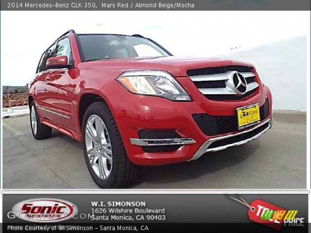 Mars Red 2014 Mercedes Benz Glk 350 Almond Beige Mocha