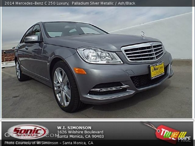 2014 Mercedes-Benz C 250 Luxury in Palladium Silver Metallic