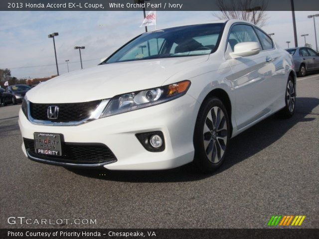 white orchid pearl 2013 honda accord ex l coupe ivory interior vehicle. Black Bedroom Furniture Sets. Home Design Ideas