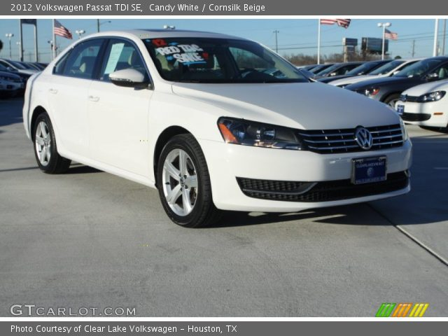 candy white 2012 volkswagen passat tdi se cornsilk beige interior vehicle. Black Bedroom Furniture Sets. Home Design Ideas