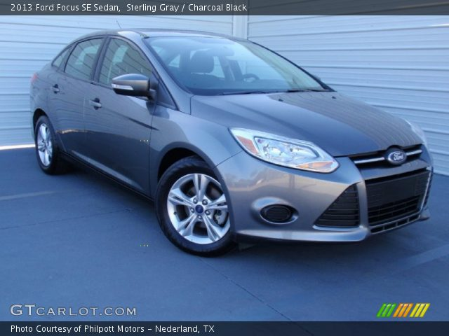 Sterling Gray - 2013 Ford Focus SE Sedan - Charcoal Black ...