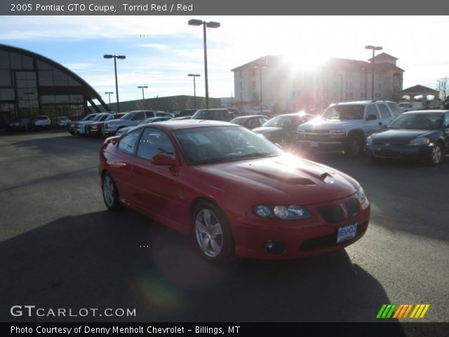 2005 Pontiac GTO Coupe in Torrid Red