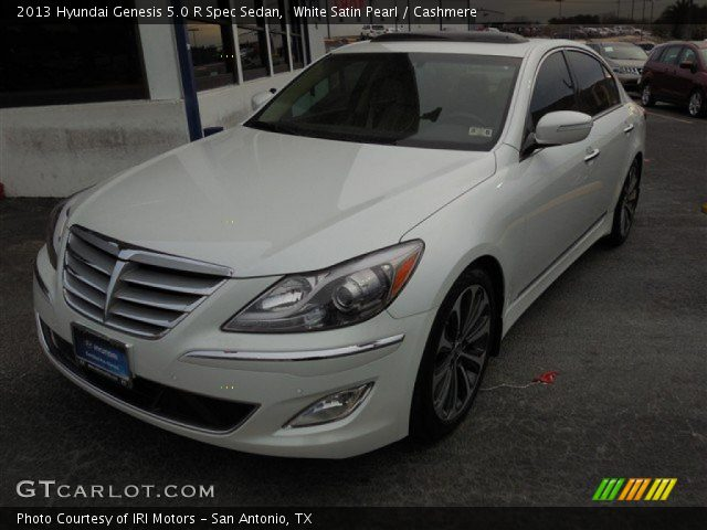 white satin pearl 2013 hyundai genesis 5 0 r spec sedan cashmere interior. Black Bedroom Furniture Sets. Home Design Ideas