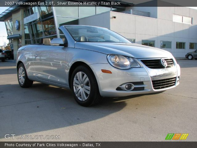 silver essence metallic 2007 volkswagen eos 2 0t titan black interior. Black Bedroom Furniture Sets. Home Design Ideas