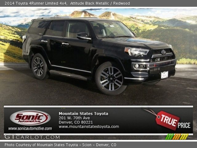 Attitude Black Metallic 2014 Toyota 4runner Limited 4x4 Redwood Interior