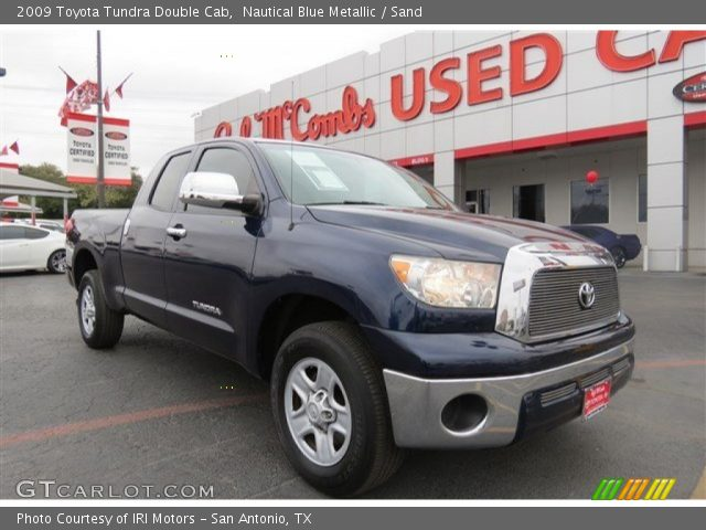 nautical blue metallic 2009 toyota tundra double cab sand interior vehicle. Black Bedroom Furniture Sets. Home Design Ideas